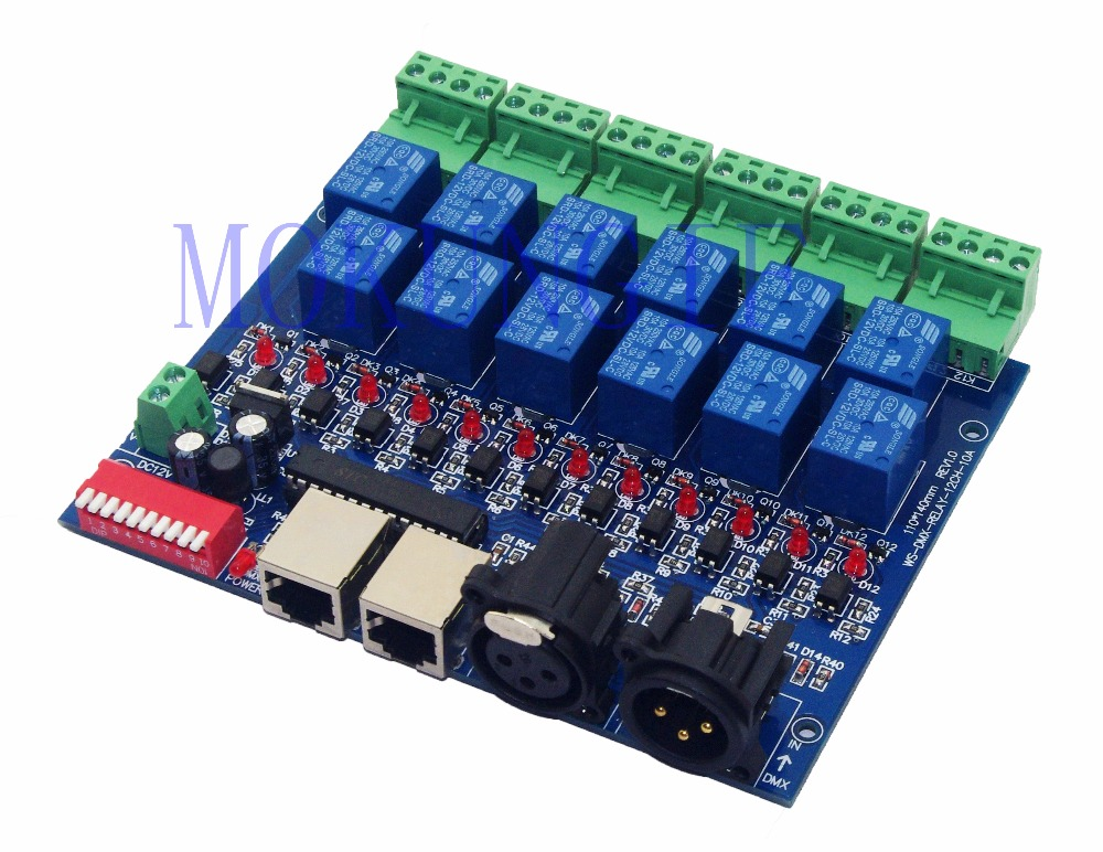 12CH Relay switch dmx512 Controller relay output WS-DMX-RELAY-12CH-10A DMX512 relay control,12 way relay switch(max 10A) 8ch relay switch dmx512 controller relay output dmx512 relay control 8way relay switch max 10a ws dmx relay 8ch
