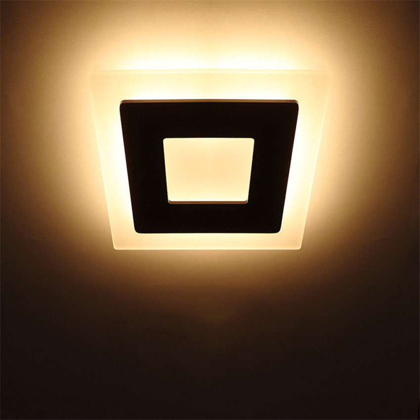 Image 3 - 18w Led Acrylic Wall Lamps AC85 265V Modern Simple Bedroom Lights Indoor Dining room Corridor Lighting Aluminum Wall Sconce NR13-in LED Indoor Wall Lamps from Lights & Lighting