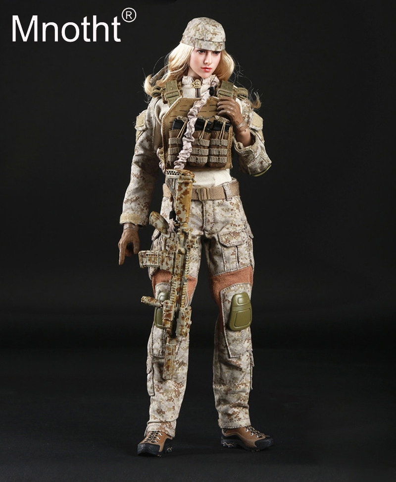1/6 Scale Camouflage suit FG015 Desert Camo Tactical Female Shooter Clothes Set For 12inch Action Figure Toys Collection m3 1 6 scale camouflage suit fg015 desert