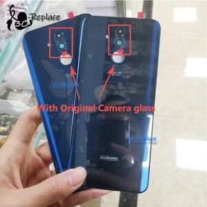 """Image 1 - Oryginalny 6.3 """"dla Huawei Mate 20 lite Mate 20 lite wymiana szklana tylna obudowa baterii obudowa baterii tylna pokrywa 3 kolory"""