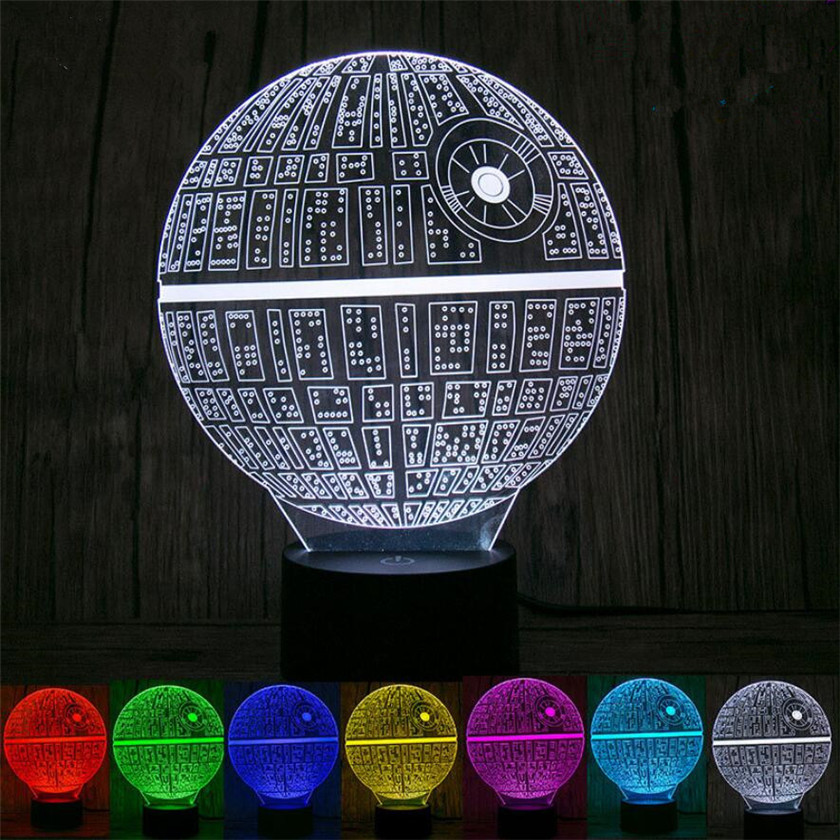 Novelty 3D Bedside Lamps Night Light Desk Lamp for Star Wars Lamparas USB Nightlight Luminaria Death Stars Kids Bedroom lighting itimo led night light baby sleeping kids bedside light bedroom decoration cartoon star night lamps novelty nightlight