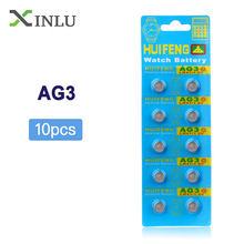 10pcs AG3 392A L736 LR41 392 384 SR41SW CX41 192 button cell coin Battery стоимость