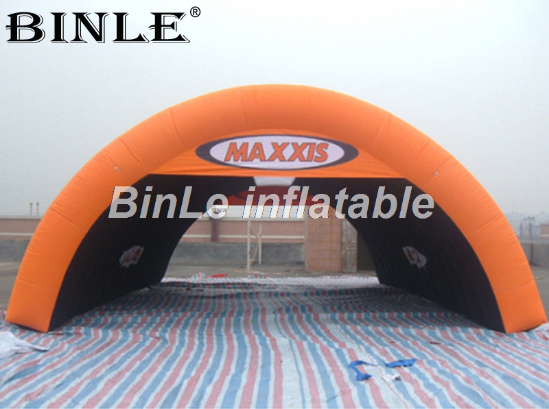 Hot sale 8m giant portable orange air inflatable <font><b>tent</b></font> for <font><b>car</b></font> <font><b>garage</b></font>/ events/ advertising image