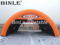 Hot sale 8m giant portable orange air inflatable tent for car garage/ events/ advertising