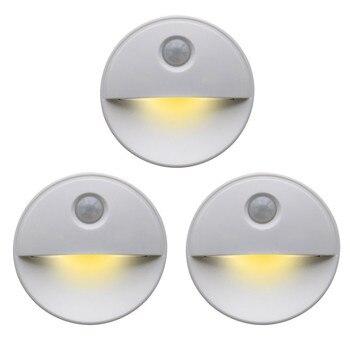 цена на LED Round Body Sensor Light Creative lamp Control Eye Protection Bed New Strange Smart Night Light lamp with motion sensor