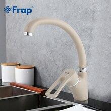 Frap robinet mitigeur deau froide et chaude, robinet de cuisine moderne multicolore, peinture en aérosol, poignée unique, Rotation à 360/8/F4166 7