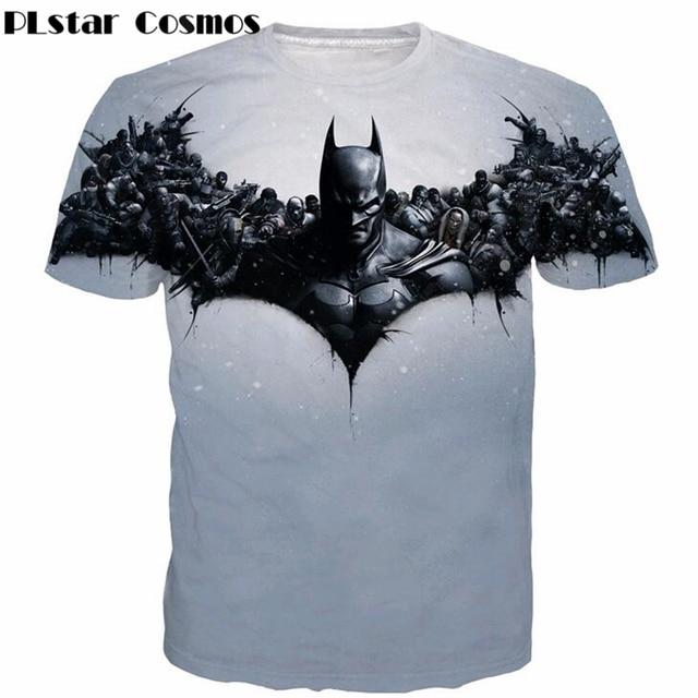 Cosmos PLstar DC Comic Moda Camiseta Anime Batman t camisas t-shirt Das Mulheres Dos Homens Hipster Paparazzi Superhero 3D casual t camisa