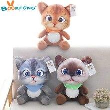 Cartoon Movie Figure Three Diablos Puss Cat Plush toy Stuffed Cat Animals Birthday Gift Pillow Toys for Children