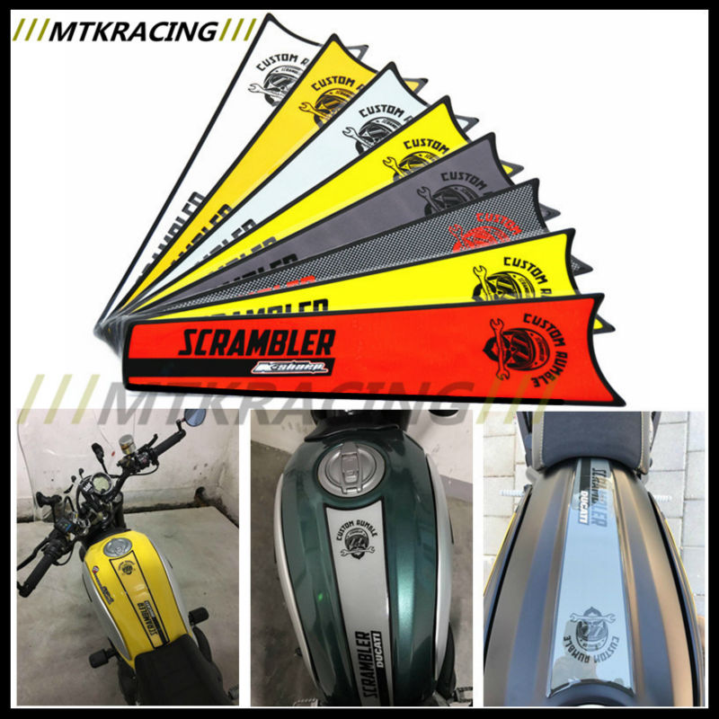 Us 2488 Mtkracing Free Delivery Protect Tank Pad Reflective Sticker Carbon Fiber Sticker New For Ducati Scrambler In Decals Stickers From