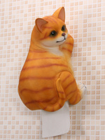 3D Resin Cute Cat Toilet Paper Holder Bathroom Roll Paper Creative Tissue Box Resin Tray Free Punch Hand Dog pig Household