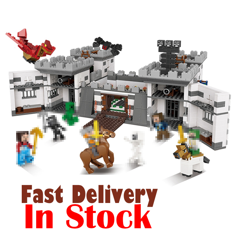 Minecraft XINGBAO 1627Pcs Blocks Series The Castle of Holy War Set Educational Building Blocks Bricks Boy Toys Model 09005 Gifts in stock xingbao 09005 1627pcs blocks series the castle of holy war set educational building blocks bricks boy toys model gifts