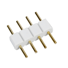 5 Pcs Male to Male 4 PIN RGB Wire Connectors White for LED Strips