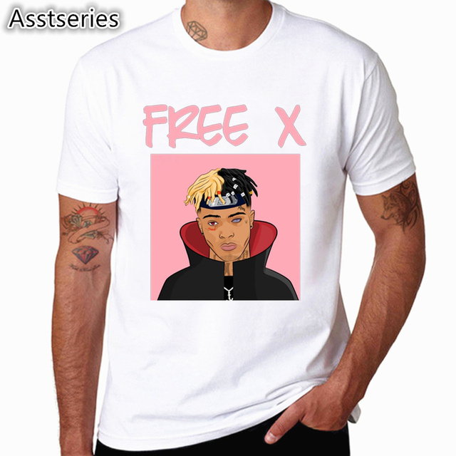 Xxxtentacion Character Print T-Shirt Fashion Casual Fitness Cool O-neck Men's T Shirt Summer Short Sleeve Men Clothing 1