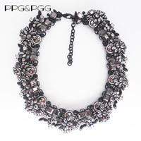 PPG i PGG Charm Biżuteria Gorgeous Kryształ Mieszany Z Marka Czarny Rhinestone Collares Naszyjniki naszyjnik Kobiety Oświadczenie Neckalce