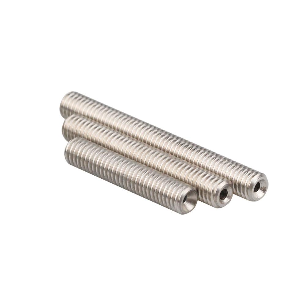 Stainless Steel Throat Long M6 30/40/50mm Threaded For MK8 MK9 1.75mm Filament 3D Printers Parts Teflon Tube Full Metal Part 4.1