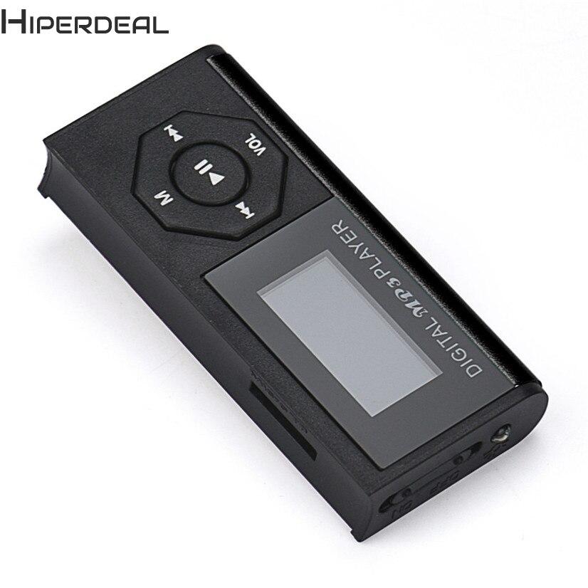 Hiperdeal Заводская цена высокое качество Лидер продаж Mini-USB MP3 Музыка Media Player ЖК-дисплей Экран Поддержка 16 ГБ Micro SD карты памяти h10
