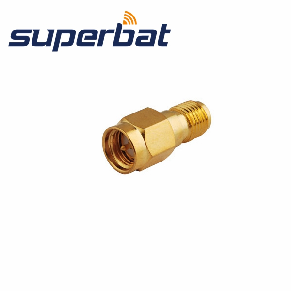Superbat SMA Adapter RP-SMA Jack Female To SMA Plug Straight Long Version RF Coaxial Adapter Connector