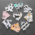 Baby Bibs High Quality Triangl Double Layers Cotton Baberos Cartoon Character Animal Print Baby Bandana Bibs Dribble Bibs