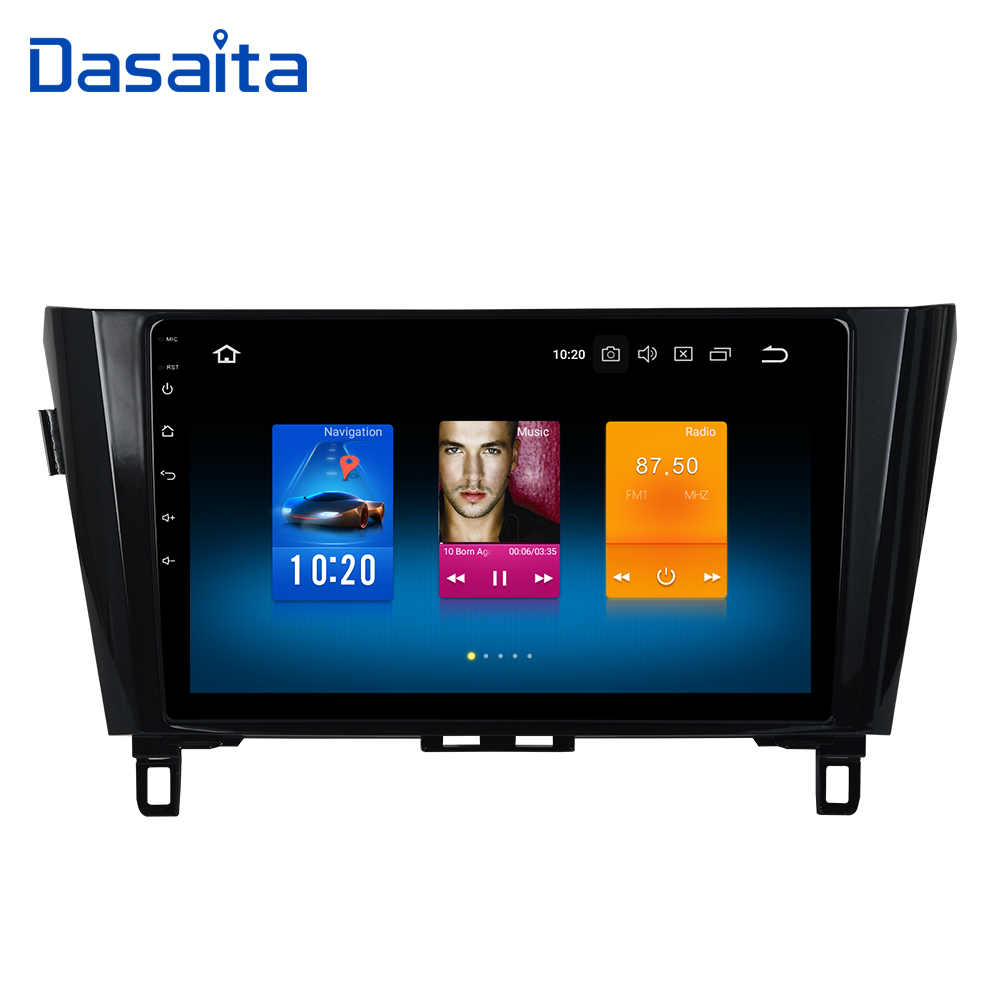 Dasaita 10.2 Android 8.0 Car GPS Radio Player for Nissan Qashqai Multimedia 2014 2015 with Octa Core 4GB+32GB Auto Stereo