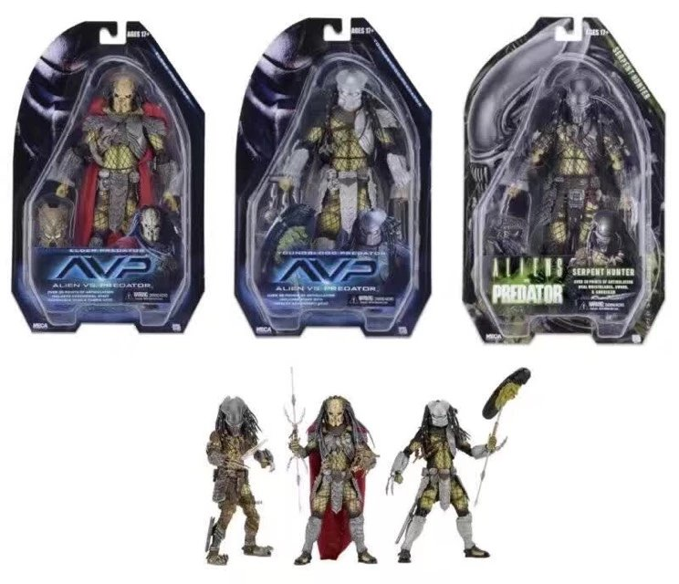 NECA AVP Aliens vs. Predator Young Blood Predator / Serpent Hunter /Elder Predator PVC Action Figure Collectible Model Toy free shipping neca p1 7 soldier set classic predator 21cm alien hunter primevil avp
