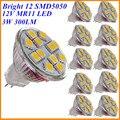 10X 3W MR11 SMD LED Light Spotlight Bulb 12V DC Mini Cup GU4 Lamp 12 SMD5050 Warm White Cool White for Home Lighting