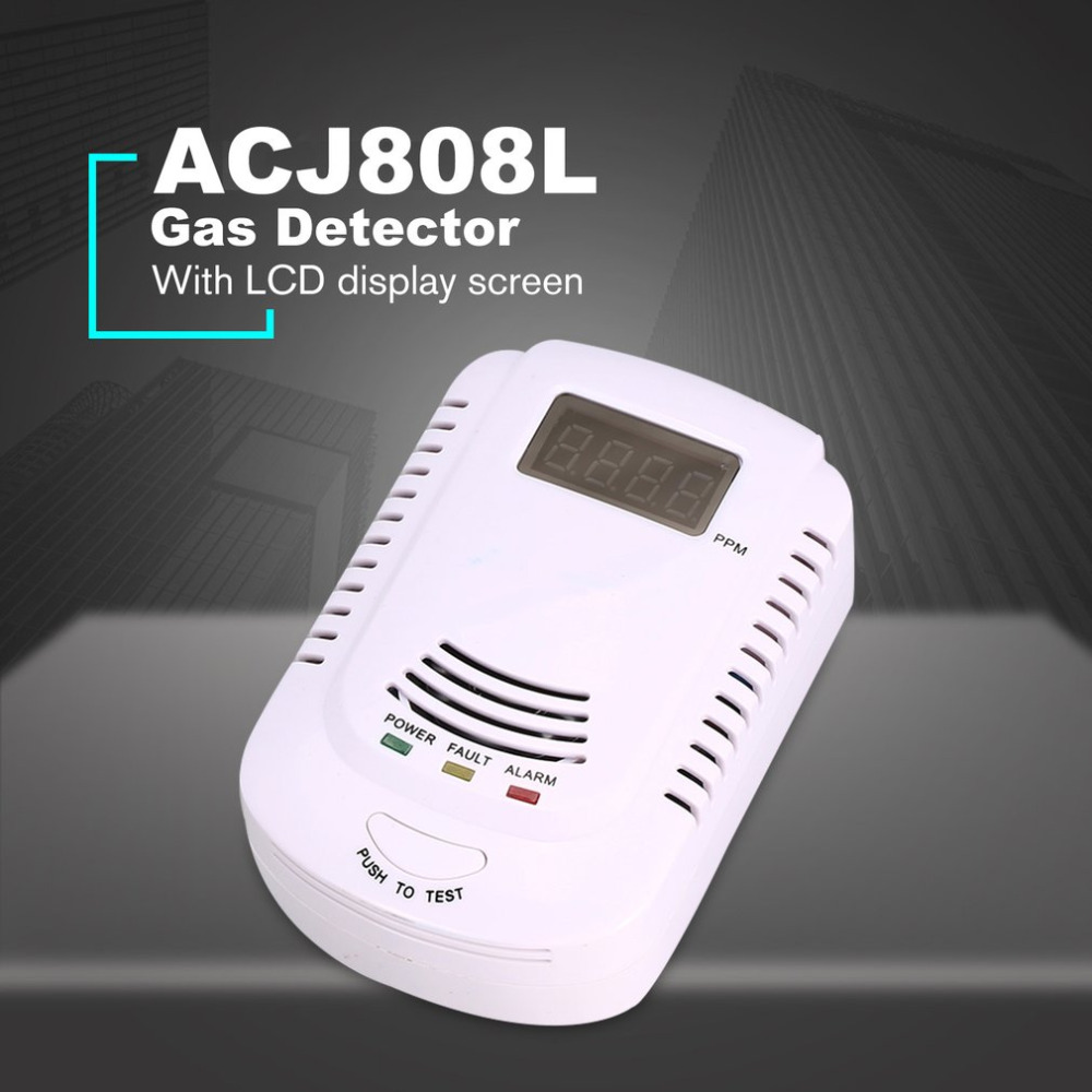 Rilevatore di Gas combustibile Sensore di Allarme GPL Analizzatore di Gas Naturale di Perdite Determinare Tester Sistema di Allarme di Sicurezza di Allarme Vocale