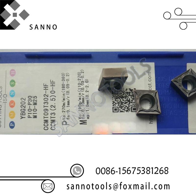 Бесплатная доставка! Недорогие и горячая Распродажа поворота Инструменты 10 шт./лот YBG202 CCMT09T302-HF cnc карбида обращаясь вставками