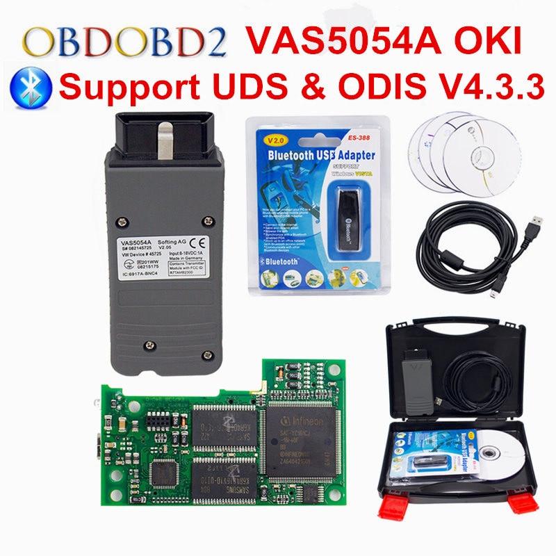 OKI Full Chip VAS 5054A ODIS V4.3.3 Bluetooth VAS 5054 A Car Diagnostic Tool For VW Seat Skoda For Bentley VAS5054A VAG Scanner