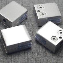 4 шт нержавеющая сталь квадратный кронштейн для держателя зажима зажим для стеклянной полки поручни серебро