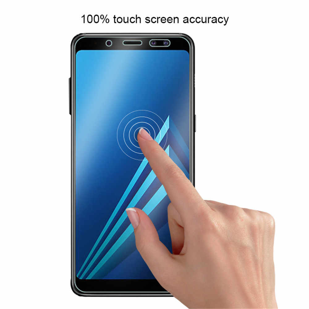 Full Tempered Glass cases For Samsung Galaxy A5 A7 2018 A6 A8 Screen Protector glass For Samsung J8 J6 J2 Plus 2018 glass Sklo