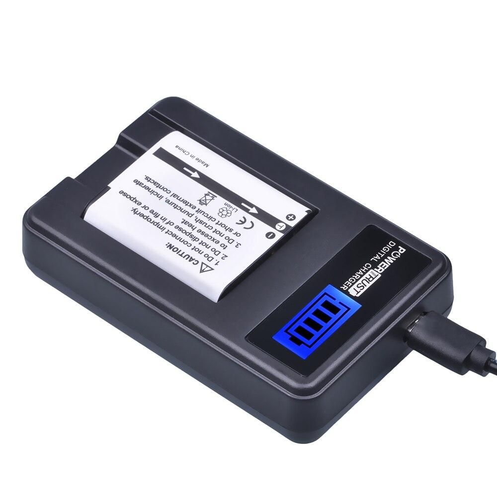 bateria da câmera + lcd carregador usb