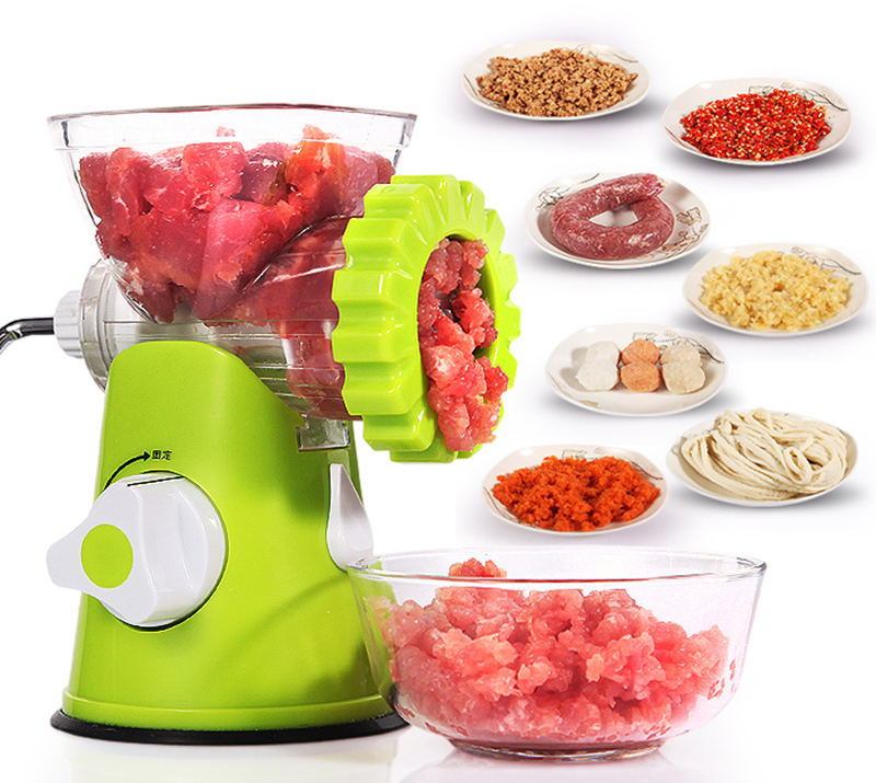 Household kitchen multi-function meat grinder Mincer Enema Shred vegetable machine Y household