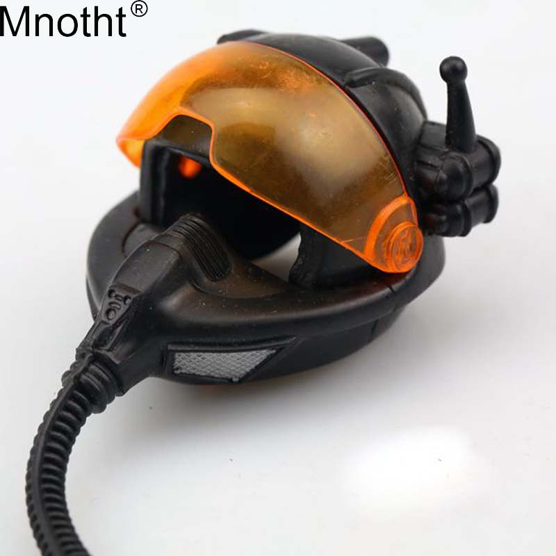 Action & Toy Figures Obliging Mnotht 1/6 Soldier Accessories Space Pilot Helmet Science Fiction Safety Hat Model Toys For 12in Action Figure Collection M3n For Improving Blood Circulation