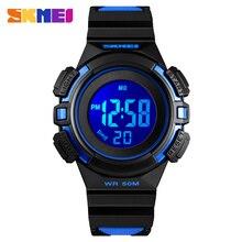 Crianças SKMEI Relógio do Esporte Meninos Grils Nova Moda Multi-função Cor Buckle relógio de Pulso À Prova D' Água Digital Ao Ar Livre Para O Miúdo
