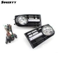 Sugeryy 1 par luces de niebla parrilla lámparas H3 para VW Golf 5 MK5 conejo 2005-2009 y kit de cableado car-styling Accesorios