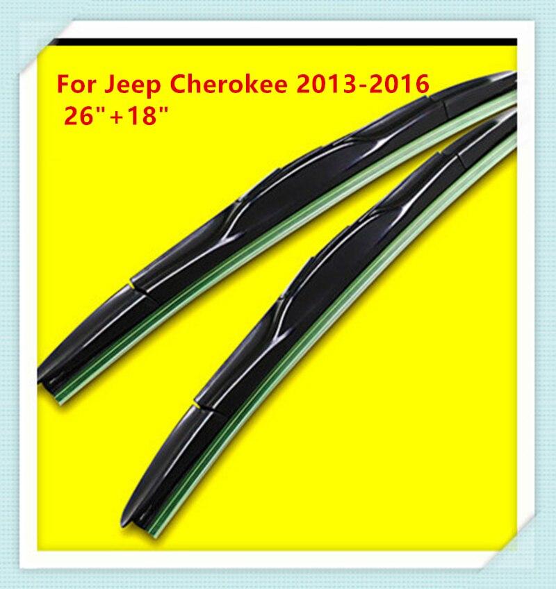 Escobilla del limpiaparabrisas de goma de 3 secciones para Jeep - Accesorios de interior de coche