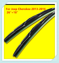"""3 Section Rubber windshield wiper Blade For Jeep Cherokee (2013-2019) 26""""+18"""""""