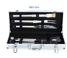 Stainless steel Outdoor barbecue sets for camping or hiking