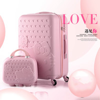Cartoon KT cat fashion cute female 20/22/24/26/28 inch Rolling Luggage Spinner Brand Suitcase Wheels Carry On Travel Bags