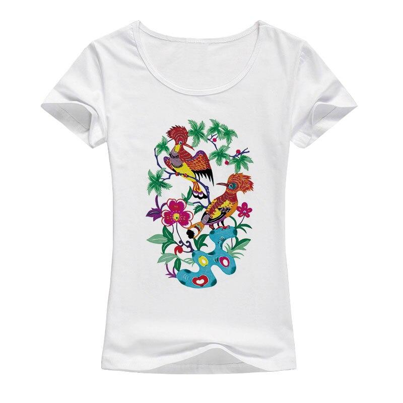 Men's women's wardrobe Store 2017 women's fashion Flowers Bird Printed t shirt women summer cotton clothing t-shirt brand Tops A83