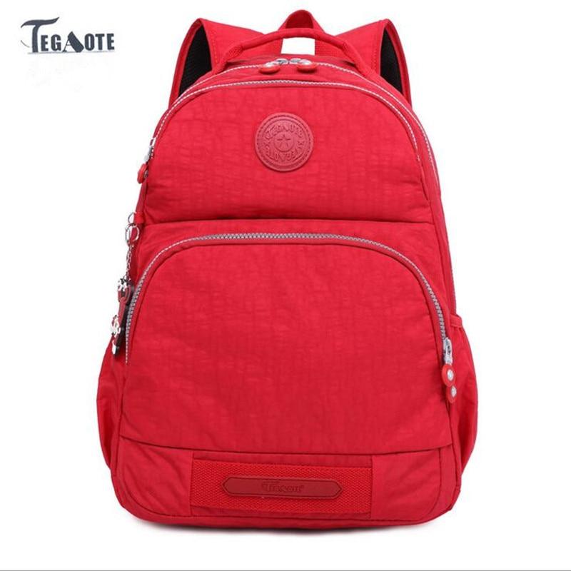 TEGAOTE 2017 Backpack for Teenage Girls Feminine Backpack Casual Kipled Nylon Backpacks Women Schoolbag Bagpack Sac A Dos bag