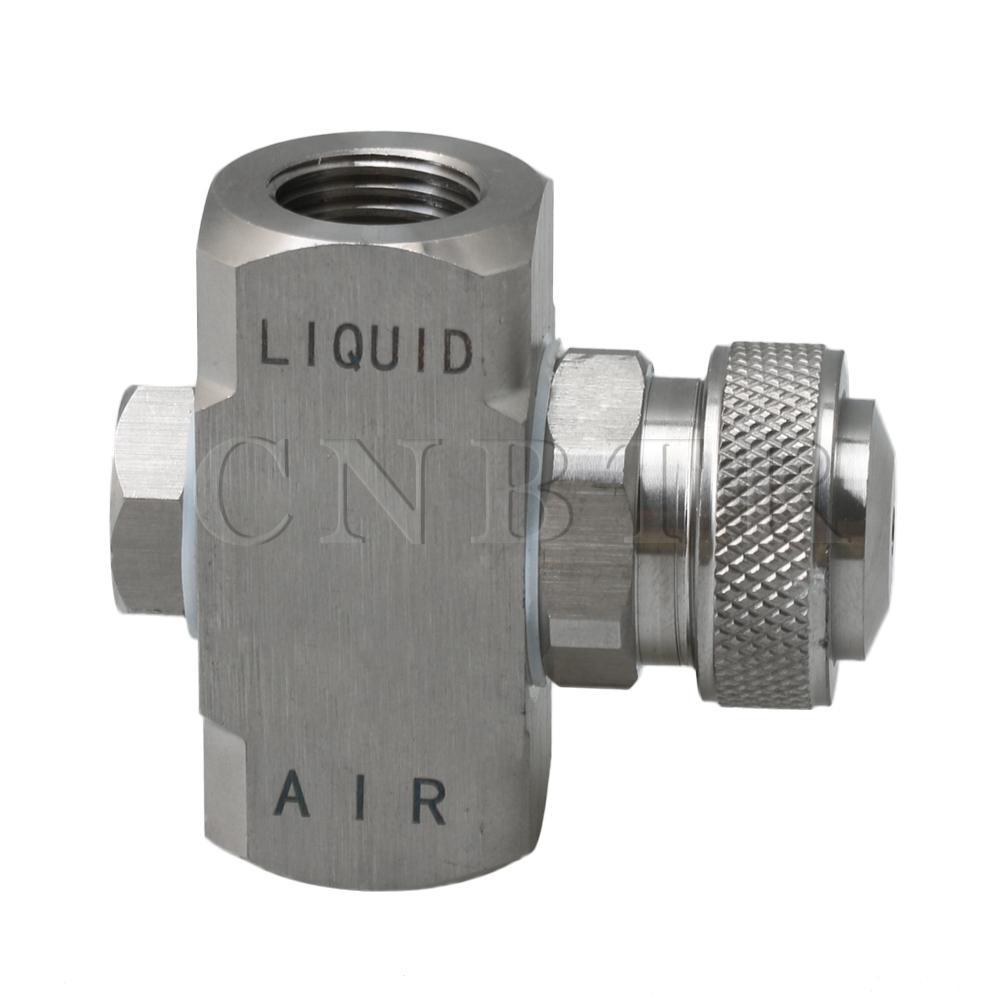 Cone Type Air Atomizing Non-adjustable Siphon Mist Nozzle 1/4BSP Thread