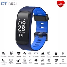 DTNO.1 F4 Original Smart Watch Bluetooth Bracelet Push Message Fitness Sleep Tracker Sports Smartwatches For IOS Android