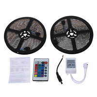 Waterproof 2x5M 10M 5050 SMD 600 LED RGB Light Lamp Flexible Strip Ribbon 24 Key Colours