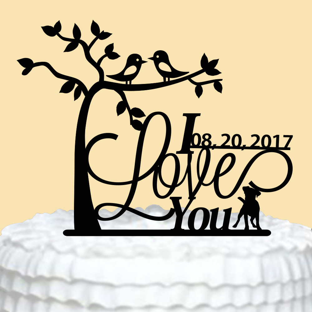 ୧ʕ ʔ୨Bride and Groom Wedding Cake Topper,Personalized Wedding Cake ...