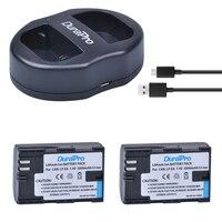 2pcs LP E6 LP E6 LP E6N Rechargeable Li Ion Batteries USB Dual Charger For Canon