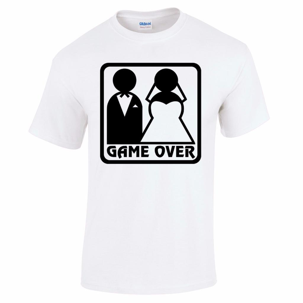 Game Over Funny Wedding Stag Do Hen Night Party Bride Groom Mens T Shirt