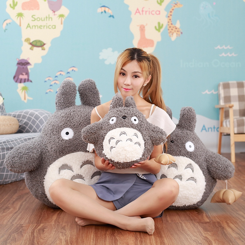 40cm Famous Cartoon Movie Character Lovely Plush Totoro Toy Soft Stuffed Pillow Cushion Birthday Gift Toys for Children Kids