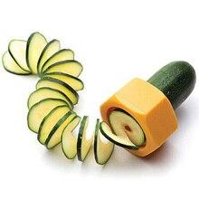 Creative Multi - Purpose Vegetable Cutter Screw Cucumber Slicer Plastic Peeler Fruit Spiralizer Salad Kitchen Tools