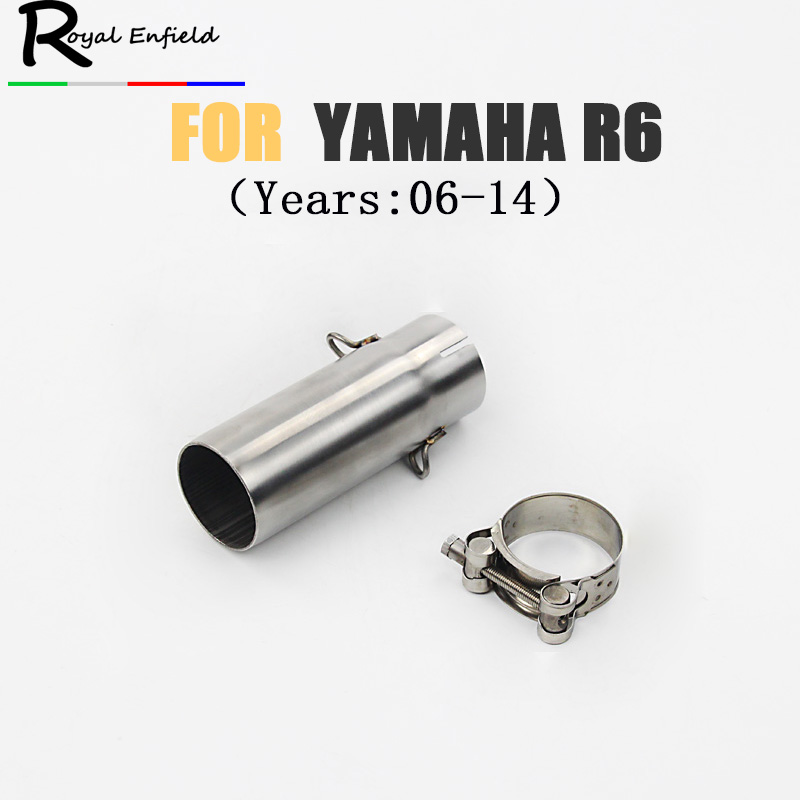 R6 Motorcycle exhaust front pipe For Yamaha YZF R6 06-14 Exhaust Systems Headers Pipes 2006 2007 2008 2009 2010 2011 2012 2013